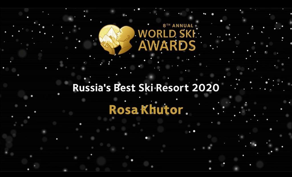 Роза Хутор награжден World Ski Awards как Лучший Горнолыжный Курорт России 2020